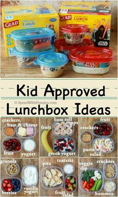 Here are our favorite kid approved lunchbox ideas! While these lunches are easy to make, you won't find any ho-hum sandwiches on this list! /gladproducts/ /walmart/ kids snacks The Best Bento Box for Kids Cold Lunches, Toddler Lunches, Lunch Snacks, Toddler Food, Breakfast Ideas For Kids, Picky Toddler Meals, Breakfast Recipes, Bag Lunches, Healthy Breakfast For Kids