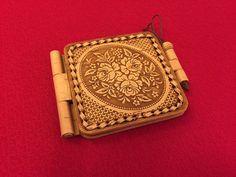 Pocket mirror Birch bark Handmade Exclusive gift