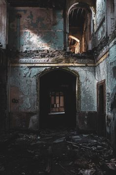 Inside An Abandoned Asylum In Northern Ireland Old Abandoned Buildings, Abandoned Asylums, Abandoned Places, Real Haunted Houses, Creepy Houses, Photo Background Images, Photo Backgrounds, Victorian Prison, Building Aesthetic