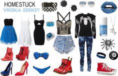 """""""Homestuck Fashion: Vriska Serket"""" by khainsaw on Polyvore"""
