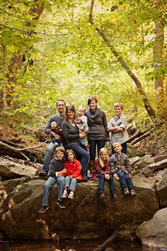 Family photo idea -- could do this same pose at tish state park :)