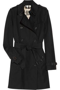 Burberry London|Mid-length cotton-gabardine trench coat|NET-A-PORTER.COM