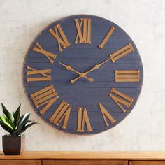 Shop for wall clocks at Pier 1 Imports. Check out Pier variety of decorative and antique wall clocks that will help make any room stand out. Gold Wall Clock, Big Wall Clocks, Wall Clock Design, Unique Wall Decor, Diy Wall Decor, Oversized Clocks, How To Make Wall Clock, Wooden Decks, Gold Walls