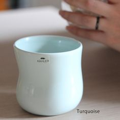 (Kahlerケーラー)マノカップ Ursula, Danish Design, Turquoise, Coffee, Tableware, Kaffee, Dinnerware, Green Turquoise, Tablewares