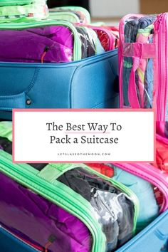 Learn the best way to pack a suitcase; how to maximize space One Suitcase, Suitcase Packing, Packing Tips For Travel, Packing Lists, Spring Break Vacations, Affordable Vacations, By Plane, Road Trip Essentials, Family Adventure