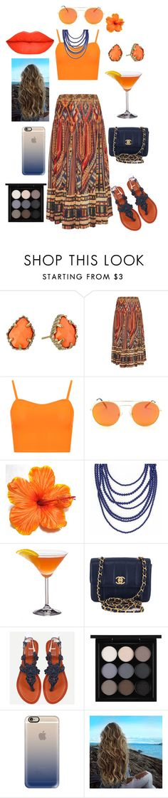 """Summer cocktail"" by thaacutie ❤ liked on Polyvore featuring Kendra Scott, Camilla, WearAll, Chanel, MAC Cosmetics and Casetify"