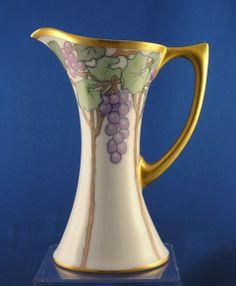 "Uno Favorite Bavaria Grape Motif Pitcher/Ewer (Marked ""Mrs. William from darkflowers on Ruby Lane"