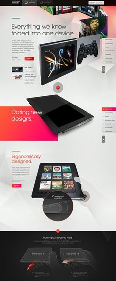 Sony Tablet S 01 by Odopod #sony #web #design