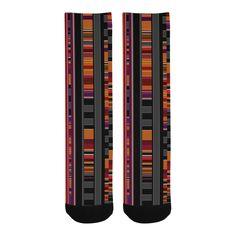 Pixel Lines Knee-High Socks