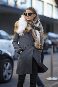 Olivia Palermo at NYFW #Olivia_Palermo #Fashion #Women_Style