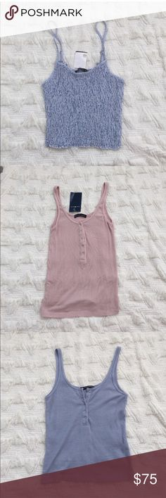 3 brand new brandy Melville tank tops Two still have tag and the other one is brand new without tag Brandy Melville Tops