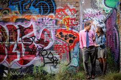 Chicago Urban Art + Graffiti Engagement Photos! Jilienne + John! | Chicago Destination Wedding Photographer - Nakai Photography Blog
