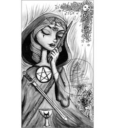 Tarot Card Art Print of The Magician  8x10 Print  of Drawing  Limited Edition on Etsy, $18.00