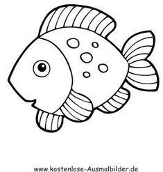 tekening visjes zoeken pets vis sjabloon vis