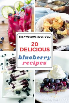 Did you know that July is National Blueberry Month? It's a great time to celebrate with a delicious blueberry mojito, french toast, pie or even homemade popsicles. Blueberry Mojito, Blueberry Recipes, Good Food, Yummy Food, Awesome Food, Homemade Popsicles, Cooking Recipes, Healthy Recipes, Great Recipes