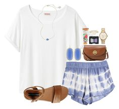 """""""out of the blue"""" by okieprep ❤ liked on Polyvore featuring Organic by John Patrick, Kendra Scott, Tory Burch, Steve Madden, Kate Spade, Library of Flowers and NARS Cosmetics"""