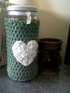 Crochet bottle cover.