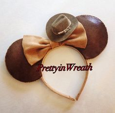 Indiana Jones inspired Mickey Mouse ears headband
