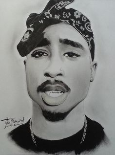 Drawing of 2pac