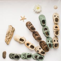 Ocean vibes so many beautiful colors & lots of neutral colors in high-quality leather baby shoes & moccasins.