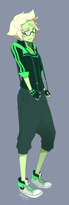 Casual Friday - Peridot. Art by http://enseisong.tumblr.com/