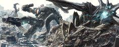 Pacific Rim,Тихоокеанский Рубеж,Jaeger,Егерь,Kaiju,Кайдзю,Sci-Fi,art,арт,красивые картинки