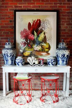 Chinoiserie Chic: Sunday Inspiration - Styling the Chinoiserie Console