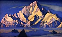 Abode of King Gesar, 1947 - Nicholas Roerich Russian Painting, Russian Art, Nicholas Roerich, Amazing Drawings, Art Database, Cultural, Landscape Art, Illustrators, Illustration Art