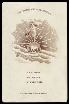 Dana, NYC, Brooklyn, Pittsburgh Medal, World Fair Chicago 1893 - version #2.