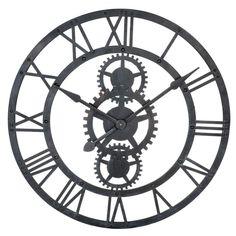 Maison du monde Ambiance industrielle Horloge en métal noire D 76 cm TEMPS MODERNES Dimensions (cm) : x L 76  79,99 €