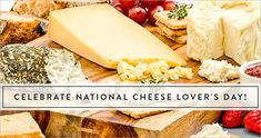 Let's face it, cheese is basically necessary for the continued survival of the human race, and January National Cheese Lover's Day, is that wonderful day where we take time to honor the glory and majesty that is cheese. Amazing Funny Facts, National Cheese Lovers Day, Grilled Sandwich, Cheesy Recipes, Menu Items, Best Breakfast, January 20, Lunch, Meals