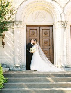 Photography : Ben Q Photography | Floral Design : The Southern Table | Ceremony Venue : Holy Trinity Catholic Church Read More on SMP: http://www.stylemepretty.com/2017/01/24/classic-american-mexican-affair-with-to-die-for-bridal-portraits/
