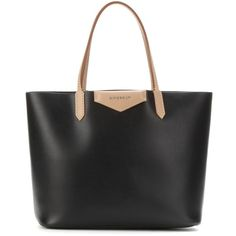 Givenchy Antigona Leather Shopper (5,220 CNY) ❤ liked on Polyvore featuring bags, handbags, tote bags, purses, black, leather tote shopper, leather tote, genuine leather tote, black purse and leather handbags