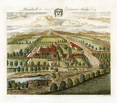 Antique prints and architectural prints from Johannes Kip State of Gloucestershire Antique Prints 1712 Antique Maps, Antique Prints, Garden Drawing, Architectural Prints, Aerial View, Landscape Architecture, Installation Art, Canvas Frame, Vintage Art