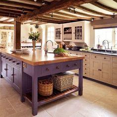 Modern purple kitchen design inspiration with glossy purple