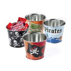 Mini Pirate Buckets | Party Supply Store | Novelty Toys | Carnival Supplies | USToy.com