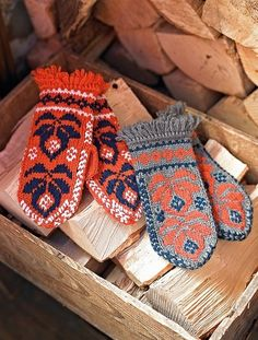 #Knitting, #Mittens