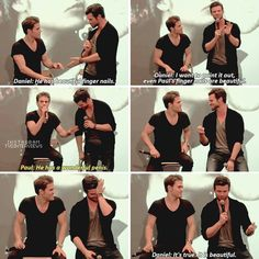 """TVD & The Originals cast— I can't with these two """"<<<<from fingernails to penis Vampire Diaries Quotes, Vampire Diaries Cast, Vampire Diaries The Originals, Damon Salvatore Vampire Diaries, Stefan Salvatore, Vampire Daries, Original Vampire, Netflix, Daniel Gillies"""