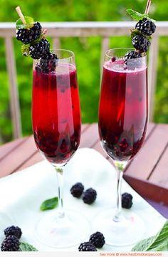 Blackberry Champagne Margaritas