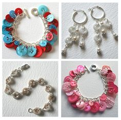 Button Jewelry LOVE it, looks like I've found another craft interest !!