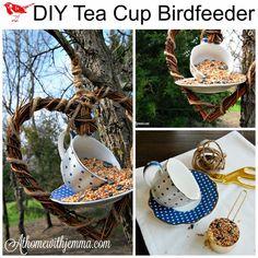 DIY Tea Cup Birdfeeder