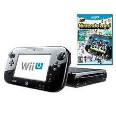 Nintendo Consola Black 32GB WIIU + Juego Nintendo Land