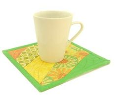 How to Make a Mug Mat - quick and easy and the result is very effective.