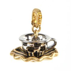 MacKenzie-Childs - Tea Cup and Saucer Charm