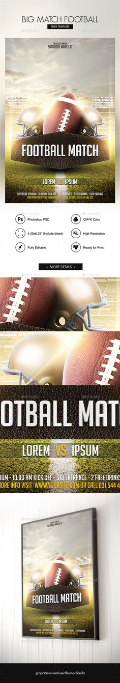 Big Match #Football Flyer - Sports Events