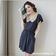 2013 spring new arrival fashion top puff sleeve gold paillette slim waist thin ruffle brief dress for womens free shipping  $17