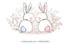 Hand Drawn Cute Bunny, print design rabbit, children print on t-shirt. Easter Drawings, Cute Animal Drawings, Bunny Art, Cute Bunny, Rabbit Drawing, Easy Bunny Drawing, Bunny Painting, Easter Art, Easter Bunny