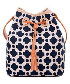 Look at this May River Milly Linen & Leather Bucket Bag on #zulily today!