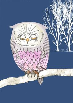 lonely owl by Bellablackbird for Illustration Friday