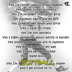 Yes, I am a #Softball Player!